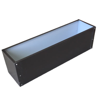 "27.5""L x 8""H x 7.25""W Brown Aluminum Window Box Liner"