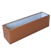 "45.5""L x 8""H x 7.25""W Copper Aluminum Window Box Liner"