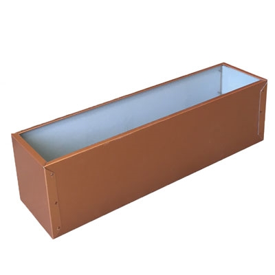 "21.5""L x 8""H x 7.25""W Copper Tone Window Box Aluminum Liner"