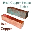 "45.5""L x 8""H x 7.25""W Real Copper Window Box Liner"