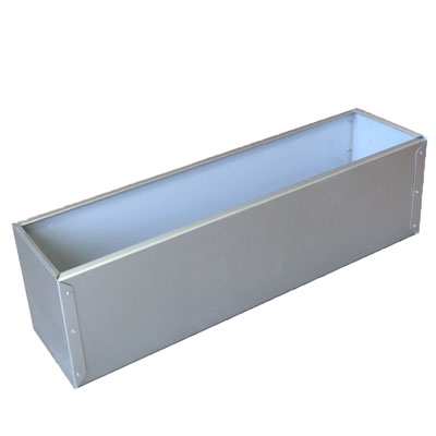 "45.5""L x 8""H x 7.25""W Silver Tone Aluminum Flower Window Box Liner"
