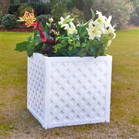 "18"" x 18"" x 18"" Square And Cube Lattice Planter Box"