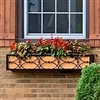 "72"" Self Watering Canterbury Ornamental Aluminum Window Box Cage"