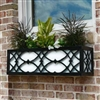 "24"" Canterbury Aluminum Window Box With Ornamental Wrought Iron Ovals ans Circles"