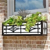 "78"" Oxford Welded Cast Iron Window Box With Heavy Duty Steel Frame"