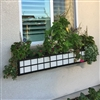 "60"" Springfield Square Rectangular Pattern Black Metal Window Boxes With Copper Liner"