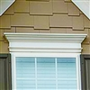 "84"" - Custom No Rot PVC Pediment And Window Header With Crown Moulding And Base Trim"
