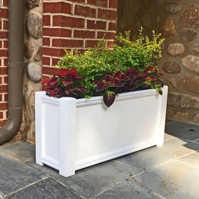 "30"" Cape Cod Self Watering PVC Planter"