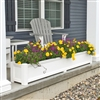 "66"" Cape Cod Self Watering PVC Planter"