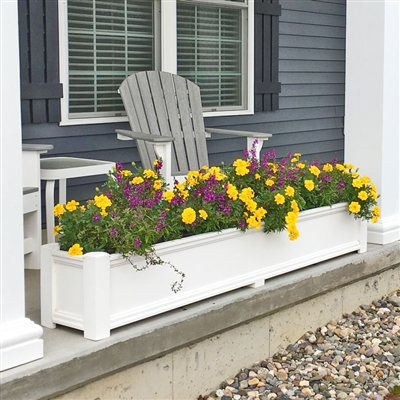 "72"" Cape Cod Self Watering PVC Planter"