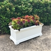 "48"" Charleston Self Watering Decorative Rectangular Planter"