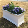 "30"" Charleston Self Watering Decorative Rectangular Planter"