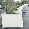 "28"" x 28"" x 28"" Charleston Square PVC Outdoor Planter"