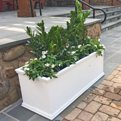 "18"" x 18"" x 72"" Charleston Extra Large PVC Outdoor Planter"