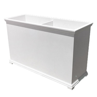 "60""L x 30""H x 18""W Charleston Extra Large PVC Outdoor Planter"