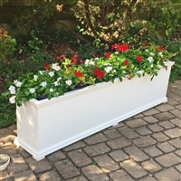 "24"" x 15"" x 72"" Charleston Extra Large PVC Outdoor Planter"