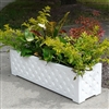 "30"" Lattice Long Rectangular PVC Planter"