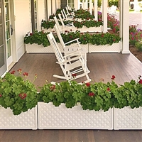"60"" Lattice Long Rectangular PVC Planter"