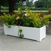 "48"" Modern Long Rectangle Shaped PVC Planter"