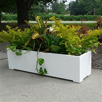 "60"" Modern Long Rectangle Shaped PVC Planter"