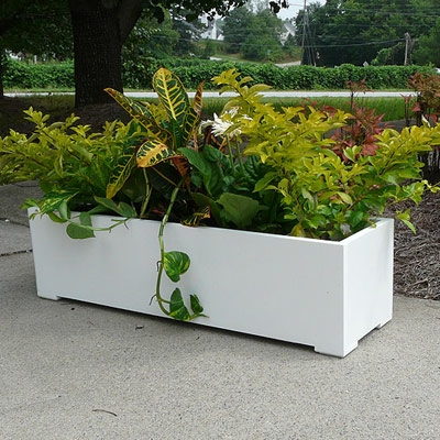 "36"" Modern Long Rectangle Shaped PVC Planter"