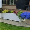 "22"" x 22"" x 36"" Modern Long, Large Simple White Outdoor Planter"