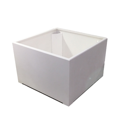 "42"" x 30"" x 42"" Modern Plain, Simple Square Planter For Outdoors In White"