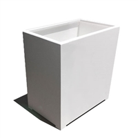 "24"" x 18"" x 36"" Modern Long, Large Simple White Outdoor Planter"
