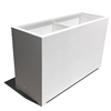 "60""L x 30""H x 18""W Modern Long, Large Simple White Outdoor Planter"