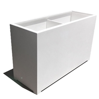 "48""L x 30""H x 18""W Modern Long, Large Simple White Outdoor Planter"