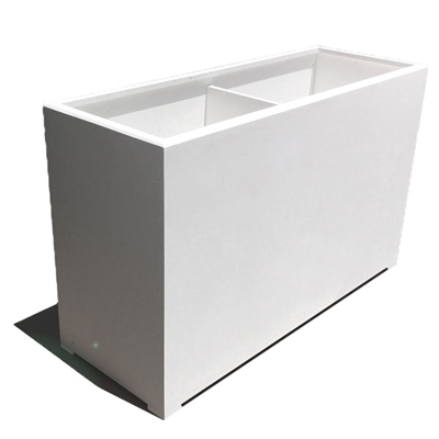 "72""L x 30""H x 18""W Modern Long, Large Simple White Outdoor Planter"