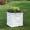 "22""Long x 22""High x 22""Wide Pennsylvania Deluxe Large Heavy Duty Plastic Planter With X Cross Pattern"