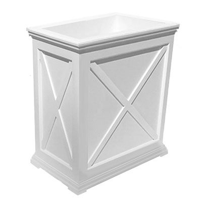 "24""Long x 30""High x 18""Wide Pennsylvania Deluxe Large Heavy Duty Plastic Planter With X Cross Pattern"