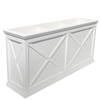 "72""Long x 30""High x 18""Wide Pennsylvania Deluxe Large Heavy Duty Plastic Planter With X Cross Pattern"
