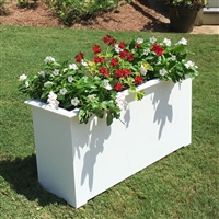 "60"" Cunningham Decorative White Plastic Planter"
