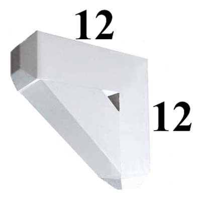Decorative PVC Bracket, B-Series, Azek, Versatex, Architectural - Style B01