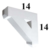 Decorative PVC Bracket, B-Series, Azek, Versatex, Architectural - Style B02