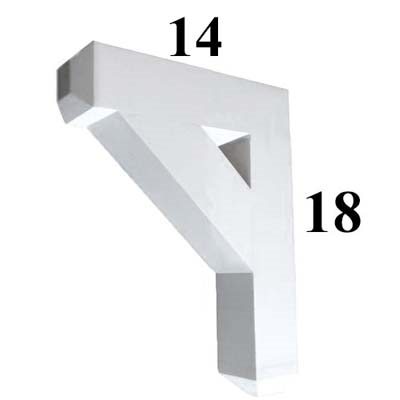 Decorative PVC Bracket, B-Series, Azek, Versatex, Architectural - Style B03