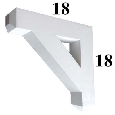 Decorative PVC Bracket, B-Series, Azek, Versatex, Architectural - Style B04