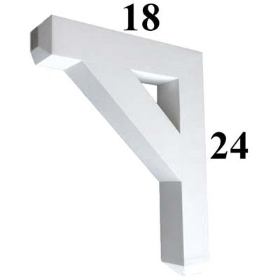 Decorative PVC Bracket, B-Series, Azek, Versatex, Architectural - Style B05