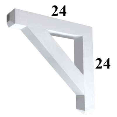 Decorative PVC Bracket, B-Series, Azek, Versatex, Architectural - Style B06