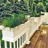 "36"" Charleston Self Watering Deck Railing Planter Over The Rail"