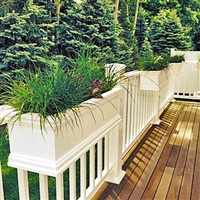 "24"" Charleston Self Watering Deck Railing Planter Over The Rail"