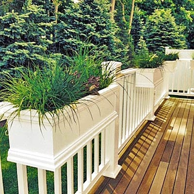 3 Foot Long Over The Rail Hanging Charleston Deck Rail Pvc Planter