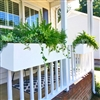 "30"" New Age Modern Self Watering Deck Railing Planter Over The Rail"