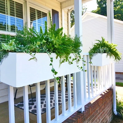 "66"" New Age Modern Self Watering Deck Railing Planter Over The Rail"
