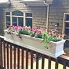 "54"" Charleston Railing Planter For Porch And Deck Rails"