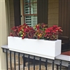 "24"" New Age Modern Railing Planter For Porch And Deck Rails"