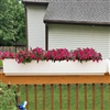 "60"" New Age Modern Railing Planter For Porch And Deck Rails"