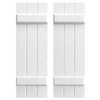 3-Board and 2-Batten Composite PVC Shutter